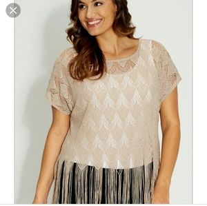 Tops - Plus size | Maurices sparkly fringe top